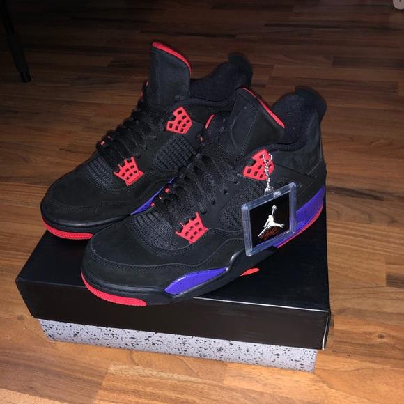 Jordan 4 Retro Raptors Size Dead Stock